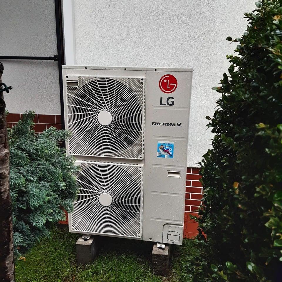 nowoczesna pompa ciepła Lg Therma V